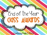 Classroom Awards - End of the Year