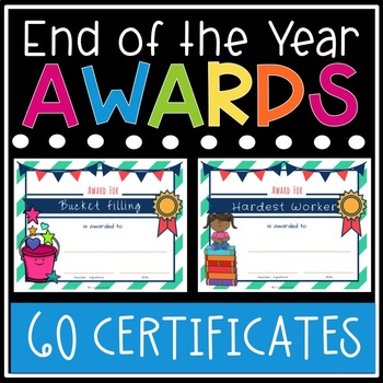end of the year awards printable student awards classroom