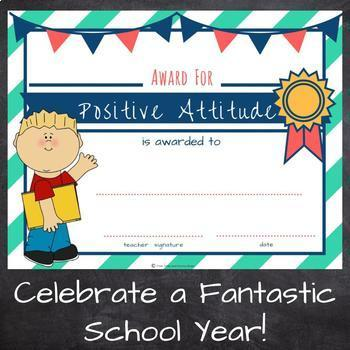 End of the Year Awards - Printable Student Awards - Classroom Certificates