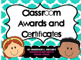 Classroom Awards and End of the Year Certificates