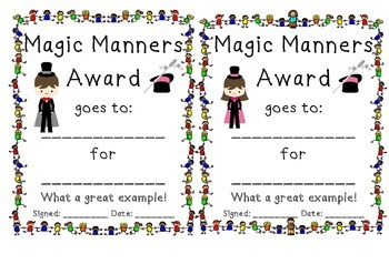Classroom Awards Certificates for Teachers Positive Classroom