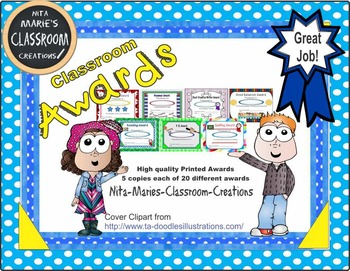 Awards from Nita Marie's Classroom Creations (printed)