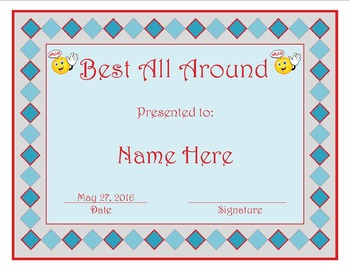 Classroom Awards in Microsoft Publisher