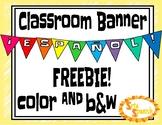 Classroom BANNER {FREEBIE}