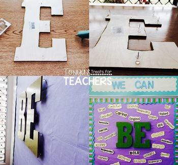 "Classroom ""BE"" Board {character traits}"