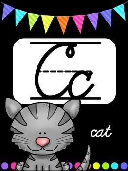 Classroom BRIGHTS Alphabet Posters {Cursive}
