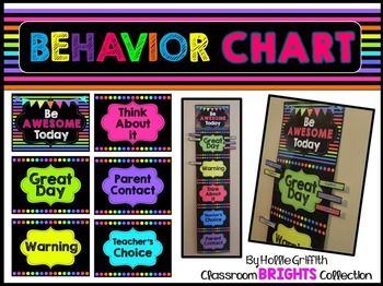 Classroom BRIGHTS Behavior Chart