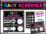 Classroom BRIGHTS: Daily Schedule {Editable}