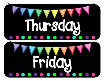Classroom BRIGHTS Days of the Week