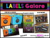 Editable Classroom Labels | Classroom BRIGHTS Classroom Decor