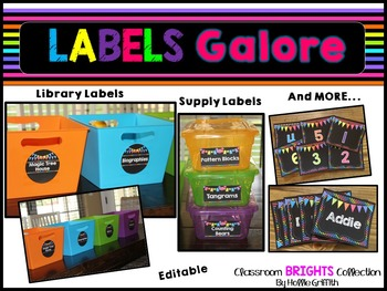Classroom BRIGHTS Labels {Library Labels, Supply Labels, & MORE}