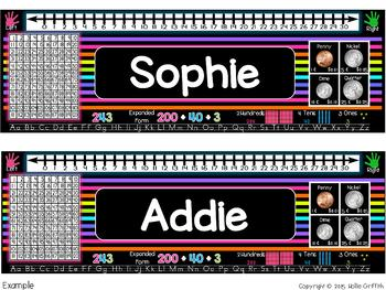 Classroom BRIGHTS Name Plates & Desk Helpers