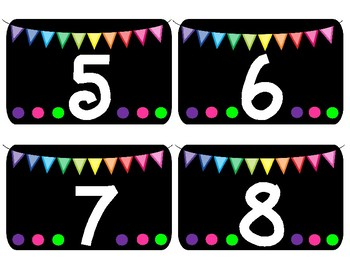 Classroom BRIGHTS Number Labels