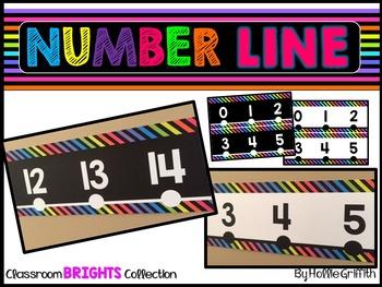 Classroom BRIGHTS Number Line {FREEBIE}