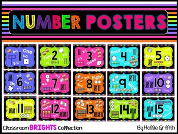 Classroom BRIGHTS Number Sense Posters {1-20}