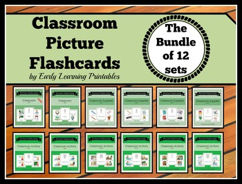 Classroom BUNDLE (set I- XII) Picture Flashcards
