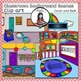 Classroom Background Scenes - color and B&W-