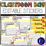 Classroom Bag Editable Stickers