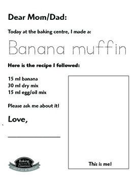 Classroom Baking: Individual Portions for Banana Muffins