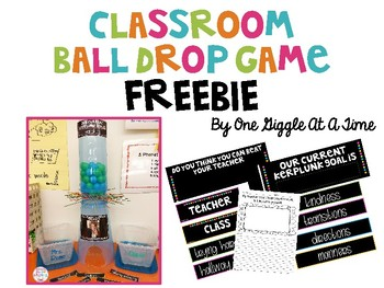 Classroom Ball Drop Game FREEBIE