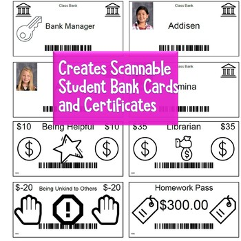 Class Bank System - Economy & Behavior Management System - Report Generator