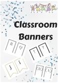 Classroom Banner!!
