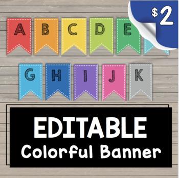 Classroom Banner - Alphabet - Centers - Number Lines {EDITABLE} Bulletin Board