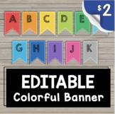 Classroom Banner - Alphabet - Centers - Number Lines EDITA