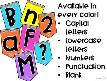 Classroom Banner- Black with Bright Colors