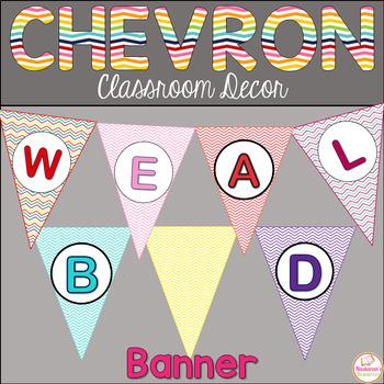 Chevron Alphabet Banner-Chevron Classroom Decor