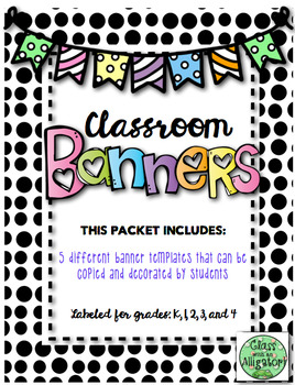Classroom Banner Craft- Great First Day Activity