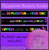 Classroom Banner Freebie!