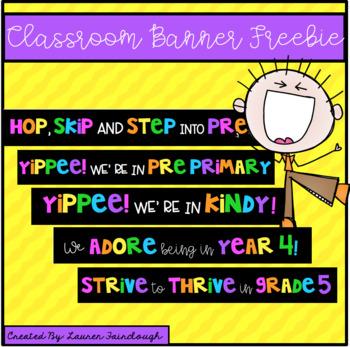 Classroom Banner Freebie 2
