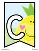 Classroom Banner: Fun Fruit Alphabet + Numbers
