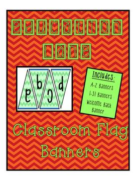 Classroom Banner Green Chevron