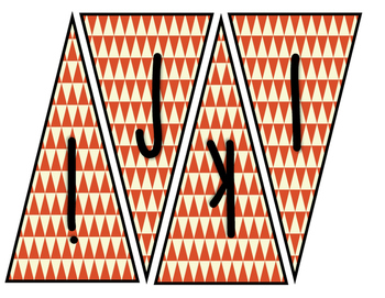 Classroom Banner (Orange Chevron)
