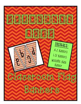 Classroom Banner (Orange Chevron)