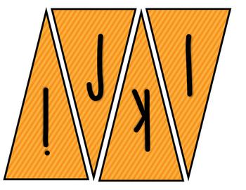 Classroom Banner (Orange Stripes)