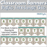 Classroom Banner Pennants - Rustic Farmhouse Chic