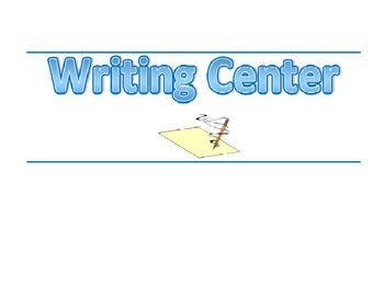 Classroom Banner-Writing Center