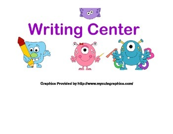 Classroom Banner-Writing Center-Monster Theme