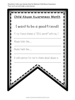 Classroom Banner to Support Child Abuse Awareness