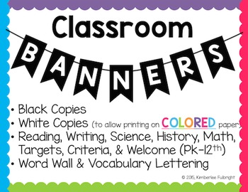 Classroom Banners