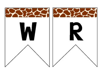 Jungle Safari Inspired Classroom Banners