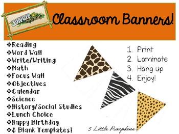 Jungle Safari Classroom Decor