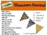 Jungle Safari Inspired Classroom Banners