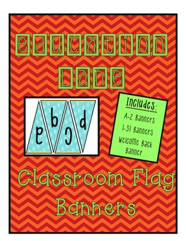 Classroom Banners (Blue Polka dots)