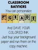 Classroom Banners Personalized