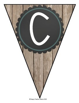 """Create Your Own"" Banners (Rustic Wood)"