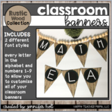"""""""Create Your Own"""" Banners (Farmhouse Rustic Wood)"""